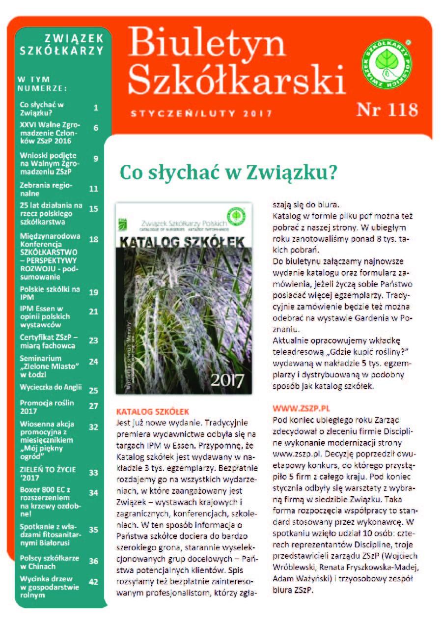 Biuletyn Szkółkarski nr 118/2017
