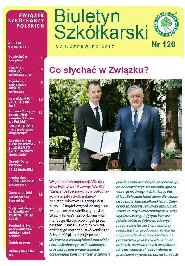 Biuletyn Szkółkarski nr 120/2017
