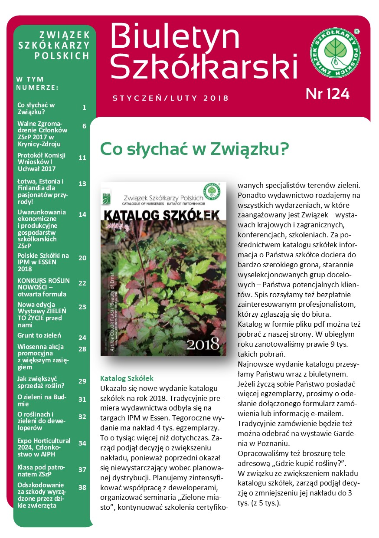 Biuletyn Szkółkarski Nr 124/2017
