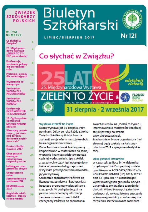 Biuletyn Szkółkarski Nr 121/2017